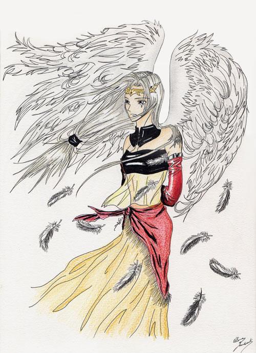 Dessin Ange Triste portfolio dessin traditionnel / ange triste